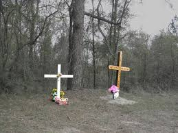 roadside crosses crosses flowers and asphalt roadside memorials in the us south