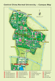 American University Campus Map Ccnu Central China Normal University