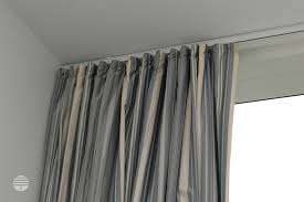 fascinating ceiling track curtain rods 31 on navy blue and white