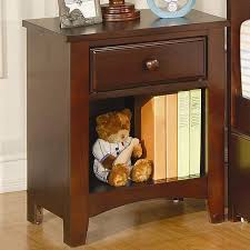 Nightstand With Shelf Nightstand With Drawer And Shelf Nightstands