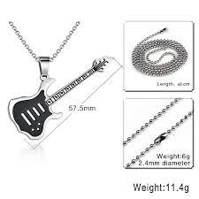 guitar necklace pendants images Electric guitar pendant necklace the deal bunker jpg
