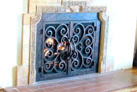 cast iron fireplace doors antique chimney cleanout