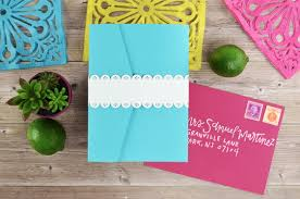 Wedding Invitation Pocket Colorful Fiesta Inspired Diy Wedding Invitation Cards U0026 Pockets