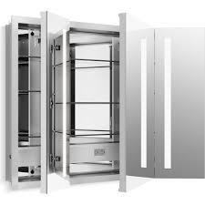 kohler k 99011 tl na verdera aluminum non handed medicine cabinets