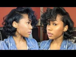 relaxed short bob hairstyle flexi rods on relaxed bob short hair blunt cut friendly youtube