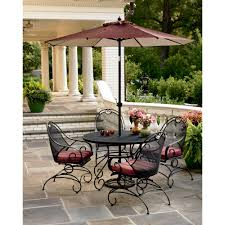Patio Furniture Set With Umbrella - country living wrought iron dining set find comfort u0026 deals at sears