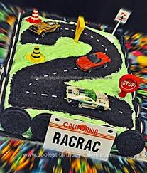 coolest race track 2nd birthday cake race track cake sheet cake