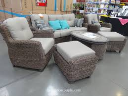Patio Furniture With Fire Pit Costco - costco outdoor furniture replacement cushions