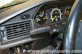light pink mercedes mercedes benz 190e instrument cluster removal w201 1987 1993