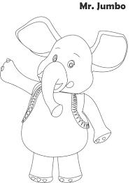 mr jumbo printable coloring page for kids
