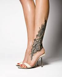 side calf tattoos for women tattoo ideas