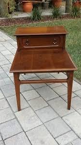 antique wood end tables antique vintage 1950 s mid century modern mersman mahogany 2 tier