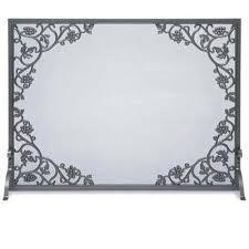 Single Fireplace Screen by Iron Single Panel Cast Grape Vine U0026 Leaf Fireplace Screen By Pilgrim