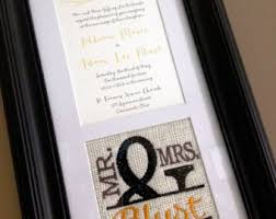 keepsake items items similar to custom monogrammed framed wedding invitation