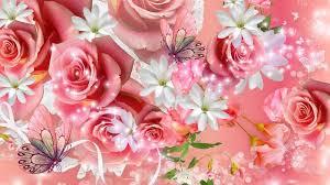 Roses And Butterflies - roses and butterflies pink wallpaper walltor