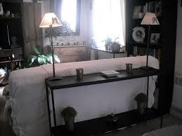 meuble derriere canapé console dans l enclave
