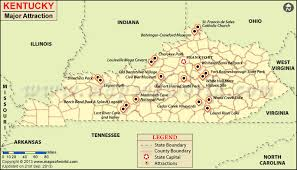 usa map kentucky state places to visit in kentucky map things to do in kentucky