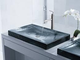 Undermount Glass Bathroom Sinks K 2369 Antilia Wading Pool Glass Sink Kohler