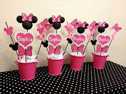 minnie mouse party supplies minnie mouse birthday decorations set of 4 centerpieces