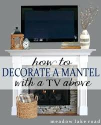 fireplace mantel decorating ideas with tv above – anxin