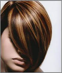 hair color high light dark brown lowlights and highlight hair color with side bangs for