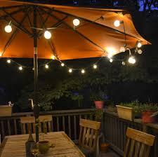 Lighting For Patios Sketch Of Lighted Patio Umbrella Providing An Amusing Nuance