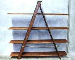 Leaning Bookcase Walmart Bookcase Ladder Shelves Walmart Rustic Wood Ladder Shelves