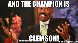 Clemson Memes - and the chion is clemson meme steve harvey 39954