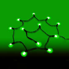 battery operated g12 led string lights green