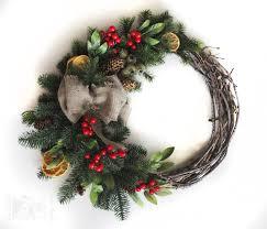 interior simple design christmas wreath ideas with green garland
