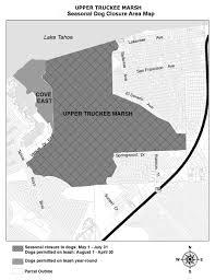 San Francisco Parcel Map by Seasonal Dog Closure At Upper Truckee Marsh Ends July 31