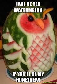 Watermelon Meme - owl be yer watermelon if you ll be my honeydew make a meme