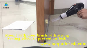 Leak Under Laminate Flooring Under Door Brush Strip Seal Test Youtube
