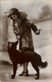 belgian sheepdog available 1930s fashion lady w belgian sheepdog groenendael dog old photo