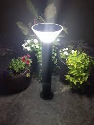 Solar Powered Bollard Lights - garden lights led home outdoor decoration