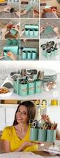 Diy Portable Camp Kitchen by Great Idea For Camping Diy Silverware Holder Upcycling Diy