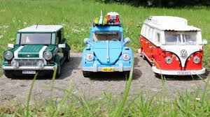 mini volkswagen beetle lego vw beetle 10252 t1 camper van u0026 mini cooper comparison