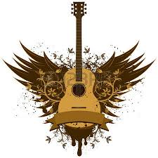1 042 guitar with wings stock vector illustration and royalty free