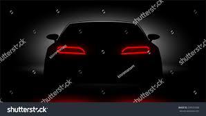 lamborghini aventador headlights in the dark car headlights shining dark stock illustration 229101508