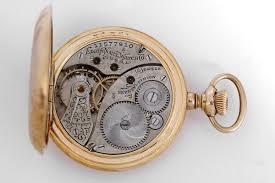 antique 14k gold filled hunter case pocket watch
