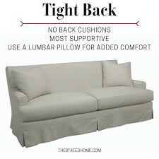 back sofa how sofa back cushions affect your comfort the stated home