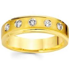 yellow gold wedding rings new bezel set diamond 14k yellow gold wedding ring dreams