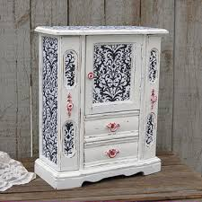 Jewelry Armoire Antique White Shop Distressed Armoire On Wanelo