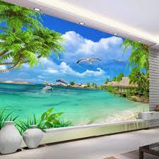 Murals Custom Hand Painted Wall Murals By Art Effects Online Buy Wholesale Beach Wall Mural From China Beach Wall Mural