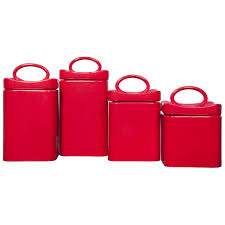 28 square kitchen canisters ceramic red set of 4 square square kitchen canisters home essentials and beyond 4 piece wavy square canister