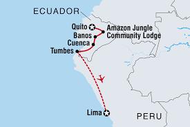 Peru On Map South America Tours U0026 Travel Intrepid Travel Au