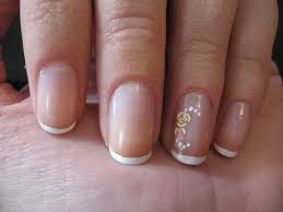 homemade nails simple french manicure on short nails