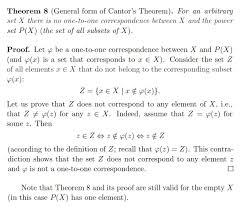 elementary set theory on the general form of the cantor u0027s