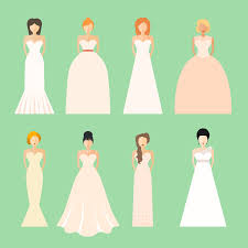 different wedding dress shapes which dress is right for you
