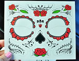 how to apply day of the dead face tattoos painted ladies